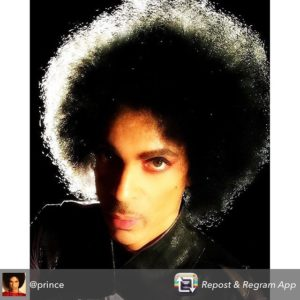Prince. Photo from PRINCEINSTAGRAM